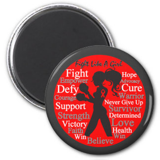 AIDS HIV Fight Like A Girl Collage Magnets