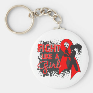 AIDS HIV Fight Like A Girl Grunge Key Chains