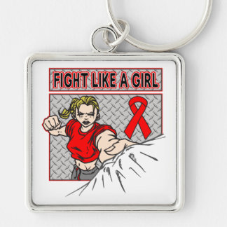 AIDS HIV Fight Like A Girl Punch Key Chains