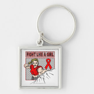 AIDS HIV Fight Like A Girl Punch Keychains