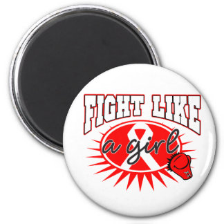 AIDS HIV Fight Like A Girl Sporty Callout Fridge Magnet