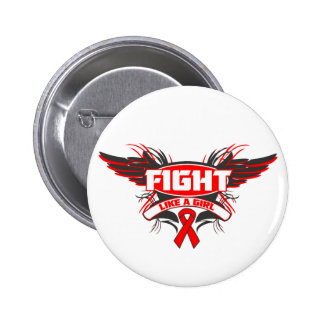AIDS HIV Fight Like a Girl Wings.png Pinback Buttons