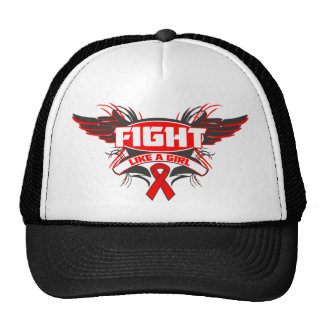 AIDS HIV Fight Like a Girl Wings png Mesh Hat