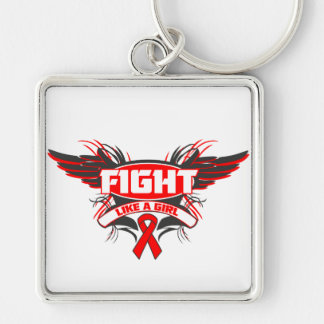 AIDS HIV Fight Like a Girl Wings.png Key Chain