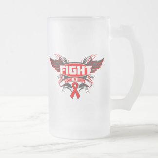 AIDS HIV Fight Like a Girl Wings.png Coffee Mug
