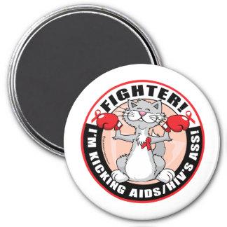 AIDS/HIV Fighter Cat Magnet