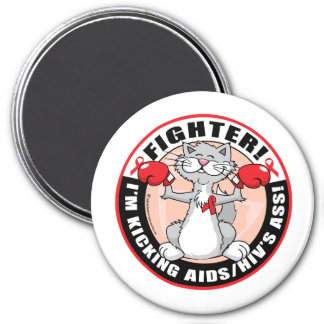 AIDS/HIV Fighter Cat Magnets