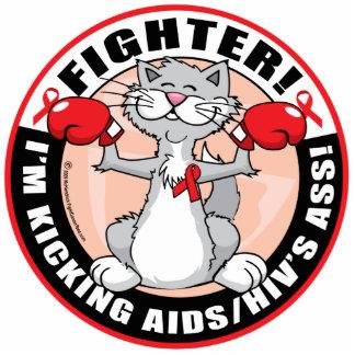 AIDS/HIV Fighter Cat Statuette
