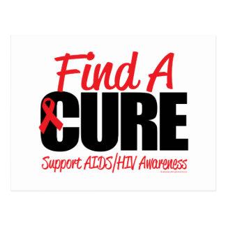 AIDS/HIV Find A Cure Postcard