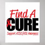 AIDS/HIV Find A Cure Print