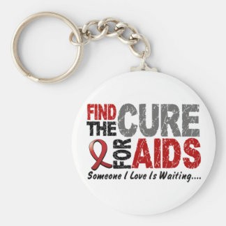 AIDS / HIV Find The Cure 1 Keychain