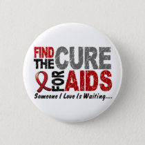 AIDS / HIV Find The Cure 1 Pinback Button