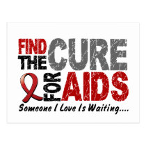 AIDS / HIV Find The Cure 1 Postcard