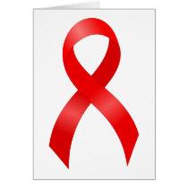AIDS & HIV   Heart Disease & Stroke - Red Ribbon Card