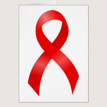 AIDS & HIV | Heart Disease & Stroke - Red Ribbon Card