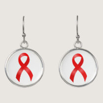 AIDS & HIV | Heart Disease & Stroke - Red Ribbon Earrings