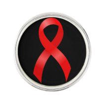 AIDS & HIV | Heart Disease & Stroke - Red Ribbon Lapel Pin