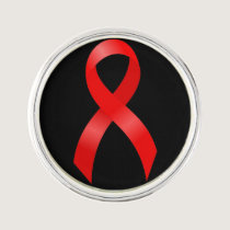 AIDS & HIV | Heart Disease & Stroke - Red Ribbon Lapel Pin