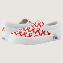 AIDS & HIV | Heart Disease & Stroke - Red Ribbon Slip-On Sneakers