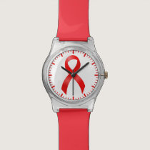 AIDS & HIV | Heart Disease & Stroke - Red Ribbon Watch