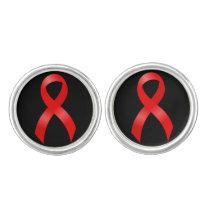 AIDS & HIV   Heart & Stroke   Red Ribbon Cufflinks