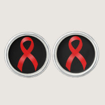 AIDS & HIV | Heart & Stroke | Red Ribbon Cufflinks