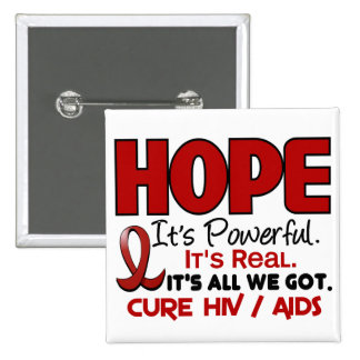 AIDS HIV HOPE 1 BUTTONS