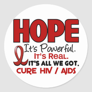 AIDS HIV HOPE 1 CLASSIC ROUND STICKER