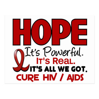 AIDS HIV HOPE 1 POSTCARD