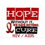 AIDS HIV HOPE 2 POST CARD