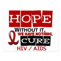 AIDS HIV HOPE 2 POSTCARD