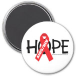 AIDS/HIV Hope 3 Inch Round Magnet