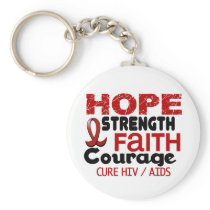 AIDS HIV HOPE 3 KEYCHAIN