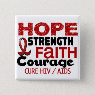 AIDS HIV HOPE 3 PINBACK BUTTON
