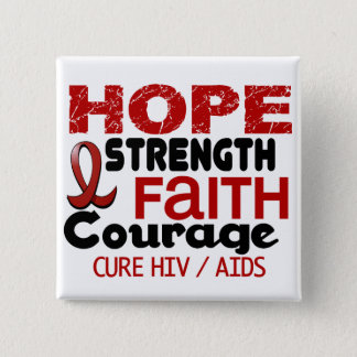 AIDS HIV HOPE 3 PINBACK BUTTON