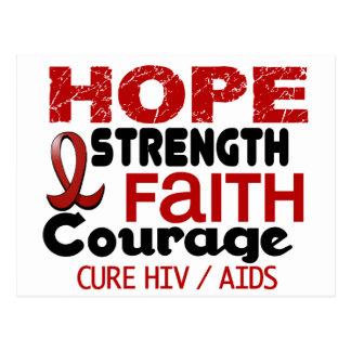 AIDS HIV HOPE 3 POSTCARD