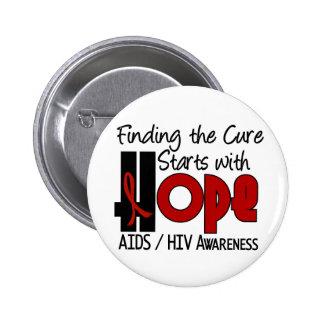 AIDS HIV HOPE 4 BUTTON