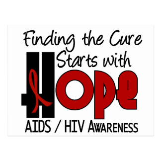 AIDS HIV HOPE 4 POSTCARD