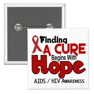 AIDS HIV HOPE 5 PINBACK BUTTONS