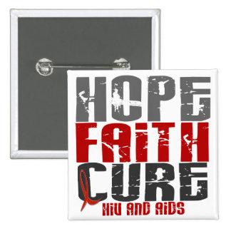 AIDS / HIV HOPE FAITH CURE BUTTON