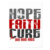 AIDS / HIV HOPE FAITH CURE POSTCARD