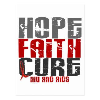 AIDS / HIV HOPE FAITH CURE POSTCARD