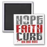 AIDS / HIV HOPE FAITH CURE REFRIGERATOR MAGNETS