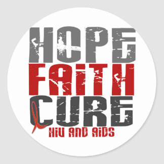AIDS / HIV HOPE FAITH CURE STICKERS