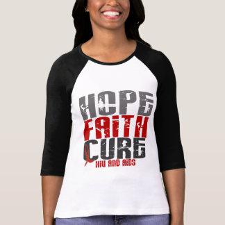 AIDS / HIV HOPE FAITH CURE T-Shirt