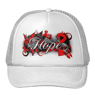 AIDS HIV Hope Garden Ribbon Hat