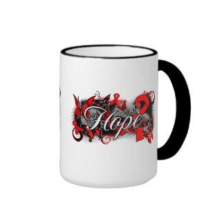AIDS HIV Hope Garden Ribbon Ringer Coffee Mug