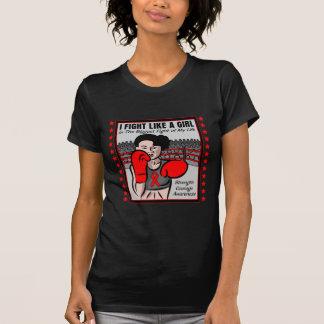 AIDS HIV I Fight Like A Girl Battle Tee Shirt