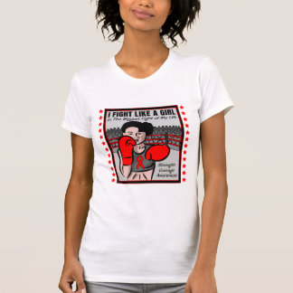 AIDS HIV I Fight Like A Girl Battle T-shirt