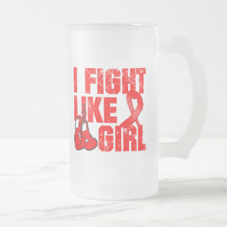 AIDS HIV I Fight Like A Girl (Grunge) Coffee Mug